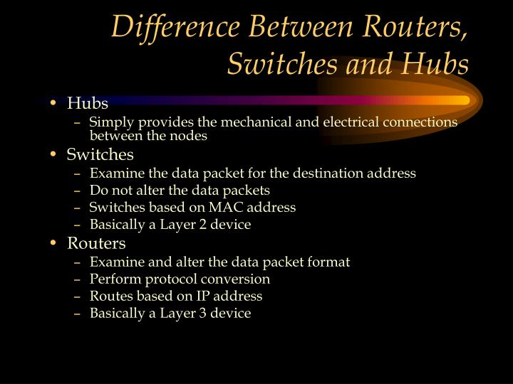 Difference Between Routers, Switches and Hubs