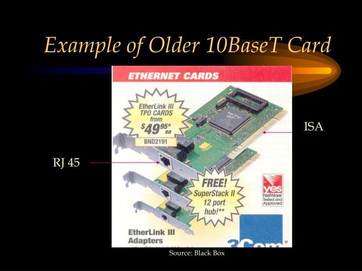 Example of Older 10BaseT Card