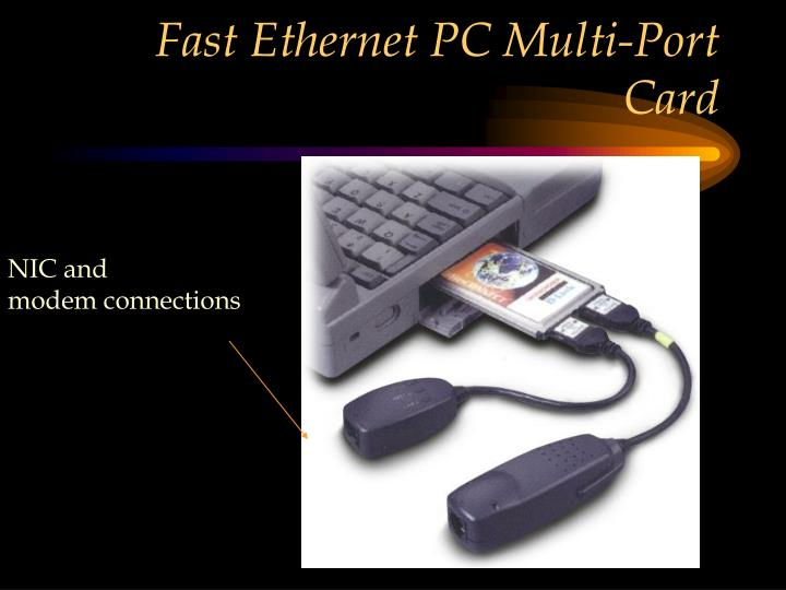 Fast Ethernet PC Multi-Port Card