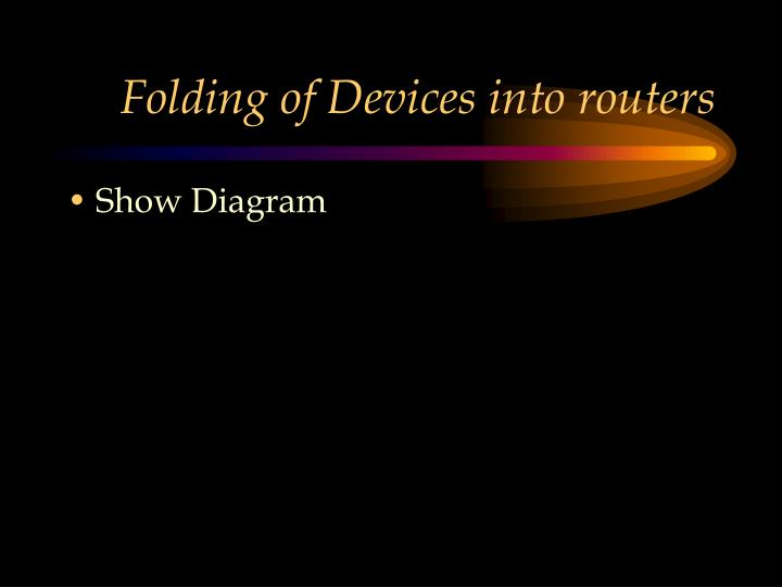 Folding of Devices into routers