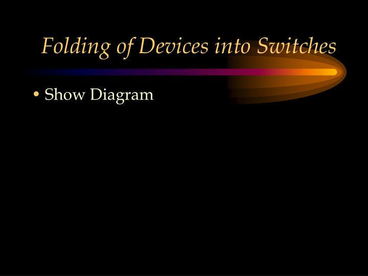 Folding of Devices into Switches