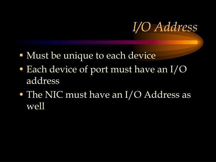 I/O Address