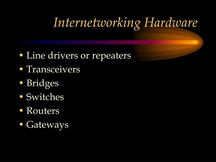 Internetworking Hardware