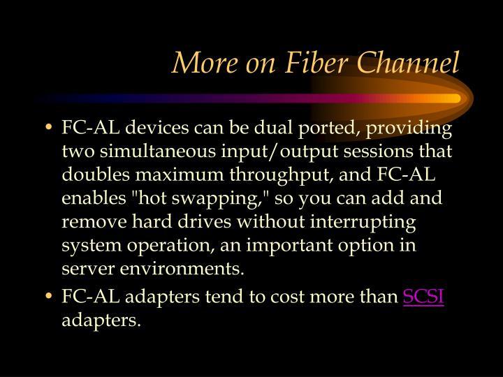 More on Fiber Channel