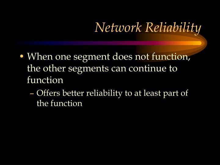 Network Reliability