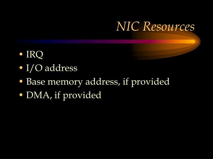 NIC Resources
