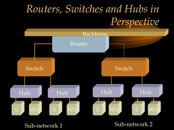Routers, Switches and Hubs in Perspective