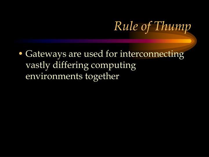 Rule of Thump