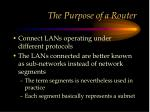 the purpose of a router