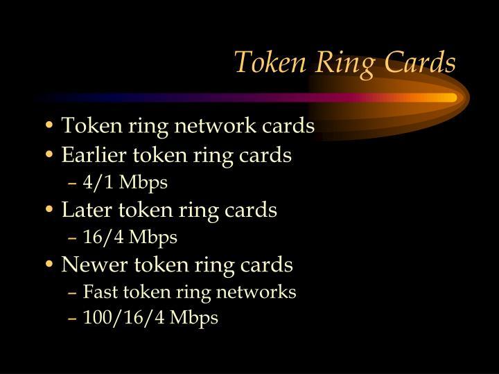 Token Ring Cards