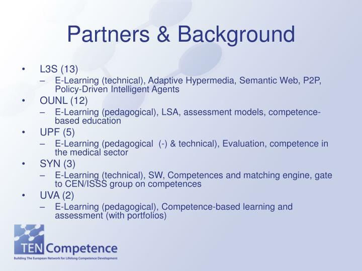 Partners & Background