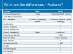 what are the differences features