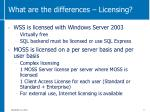 what are the differences licensing