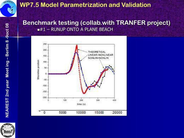 WP7.5 Model Parametrization and Validation