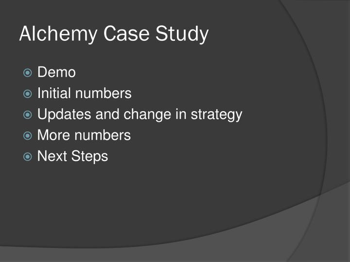 Alchemy Case Study