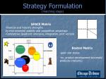 strategy formulation matching stage