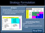 strategy formulation matching stage1
