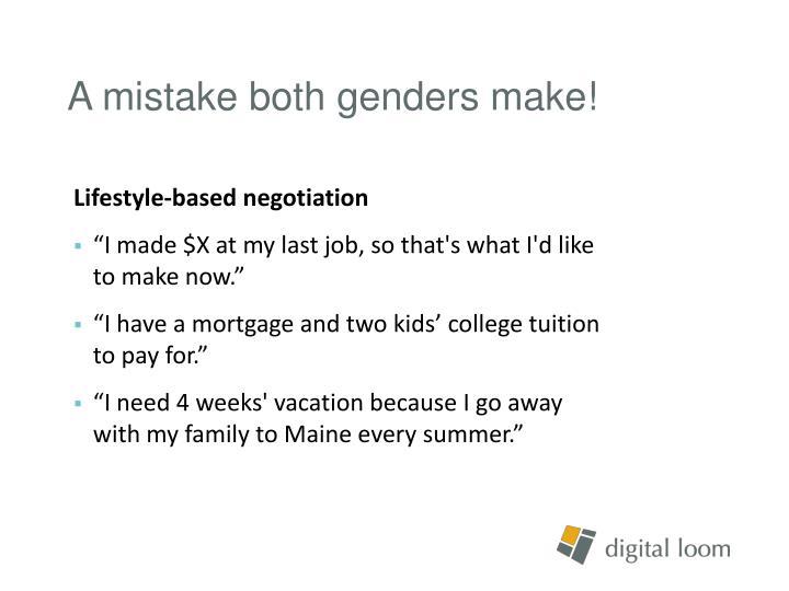 A mistake both genders make!