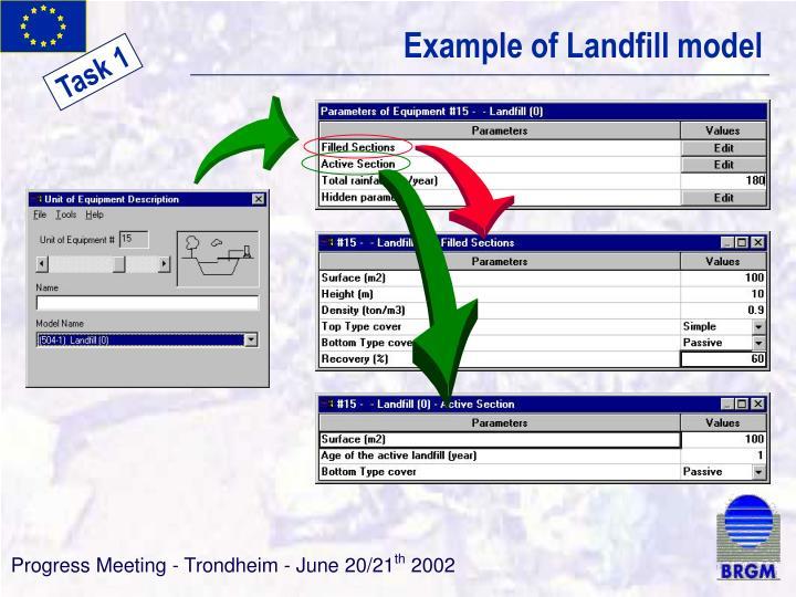 Example of Landfill model