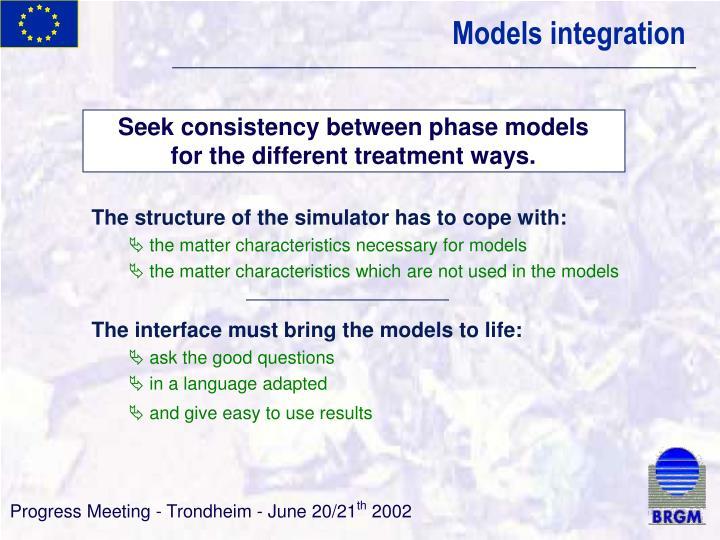Models integration