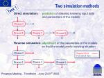 two simulation methods