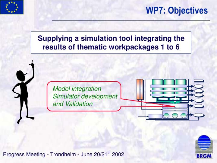 Supplying a simulation tool integrating the results of thematic workpackages 1 to 6