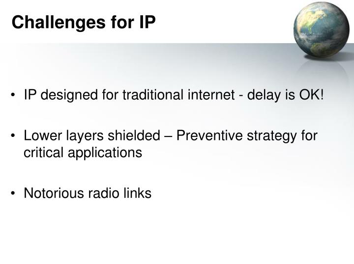 Challenges for IP