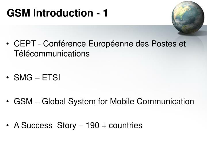 GSM Introduction - 1