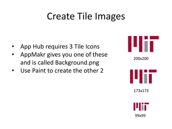 Create Tile Images