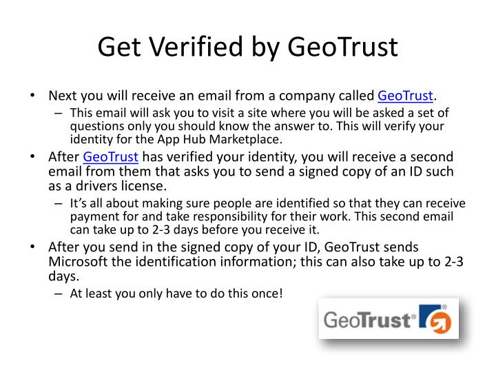 Get Verified by GeoTrust