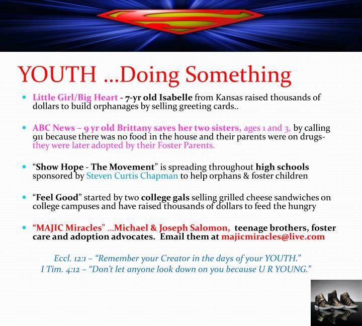 YOUTH …Doing Something