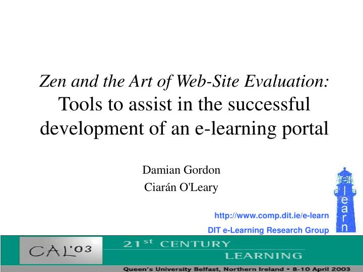 Zen and the Art of Web-Site Evaluation: