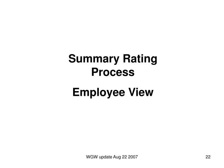 Summary Rating Process