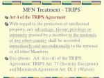 mfn treatment trips