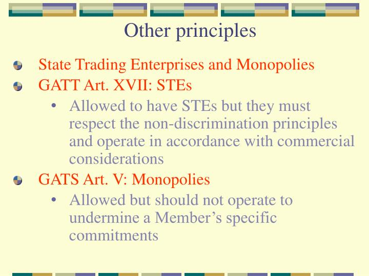 Other principles