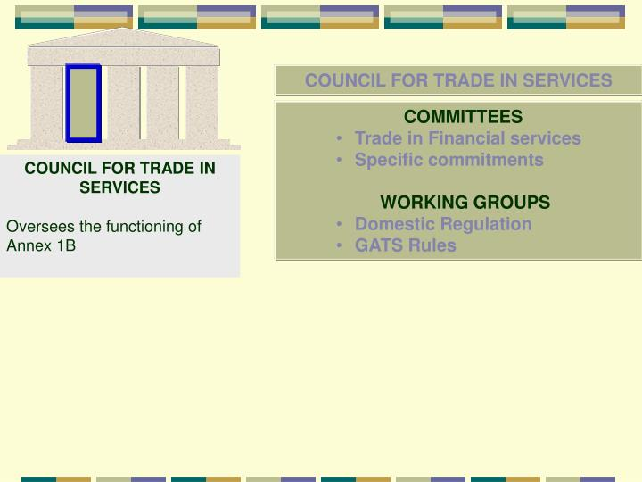 COUNCIL FOR TRADE IN SERVICES