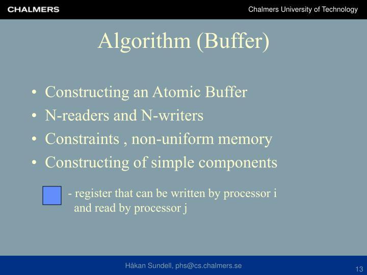 Constructing an Atomic Buffer