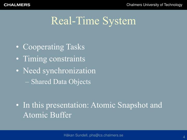 Cooperating Tasks