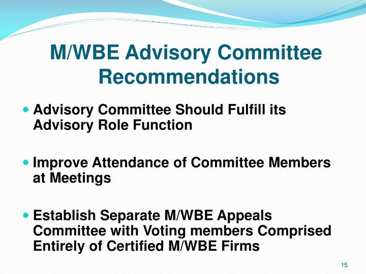 M/WBE Advisory Committee