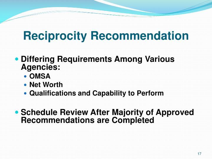 Reciprocity Recommendation