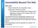 accessibility beyond the web