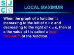 local maximum