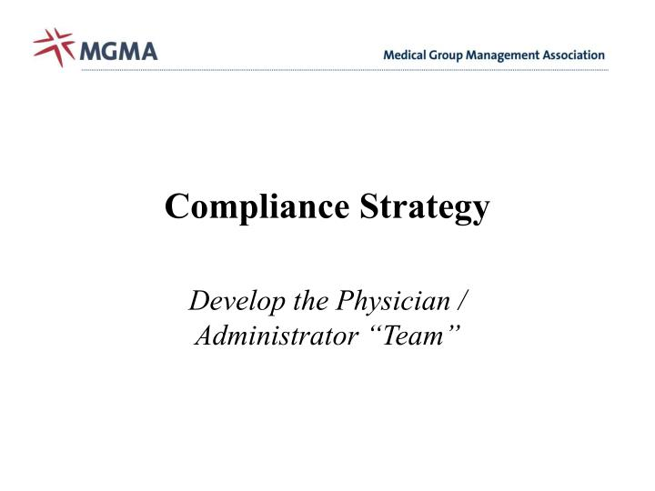Compliance Strategy