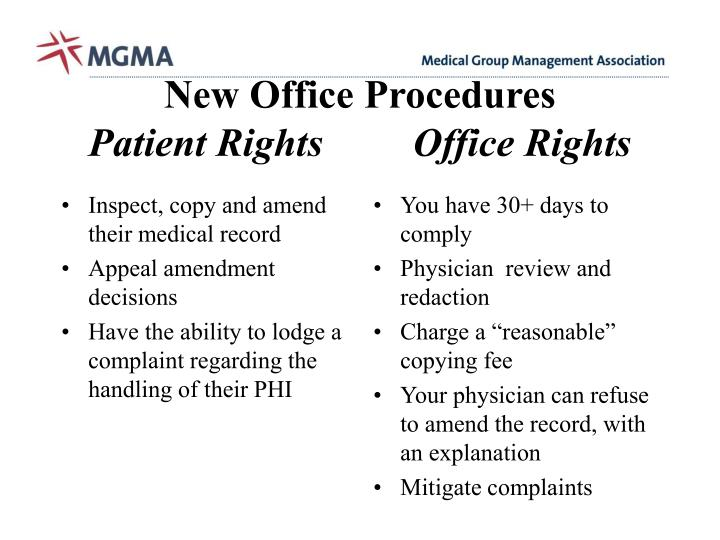 Inspect, copy and amend their medical record
