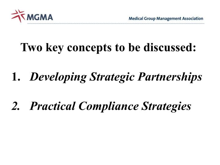 Two key concepts to be discussed: