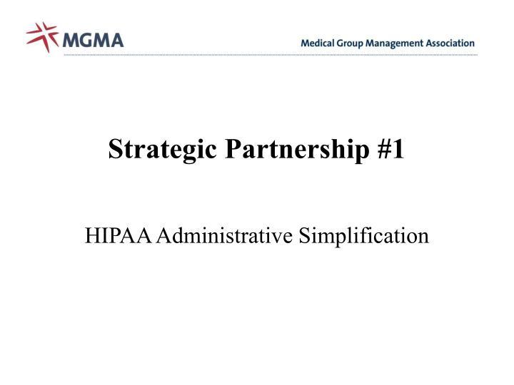 Strategic Partnership #1