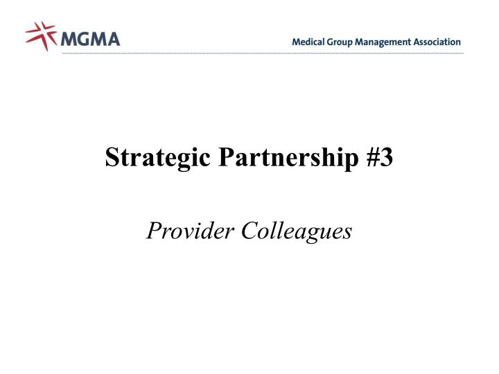 Strategic Partnership #3