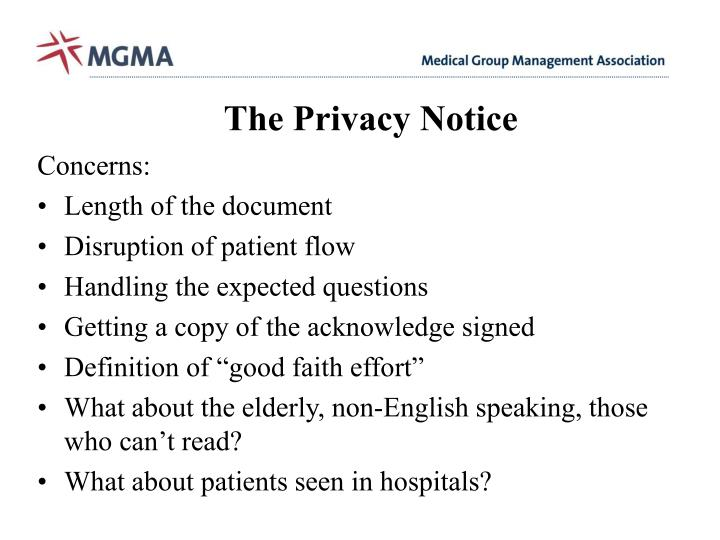 The Privacy Notice