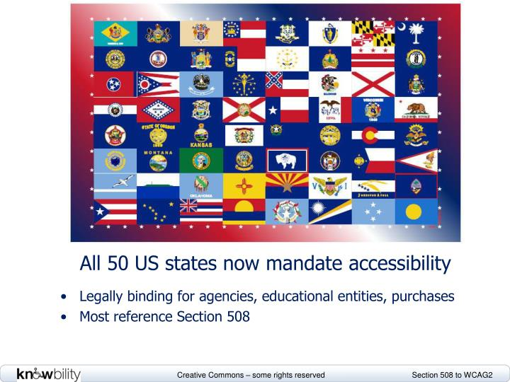 All 50 US states now mandate accessibility