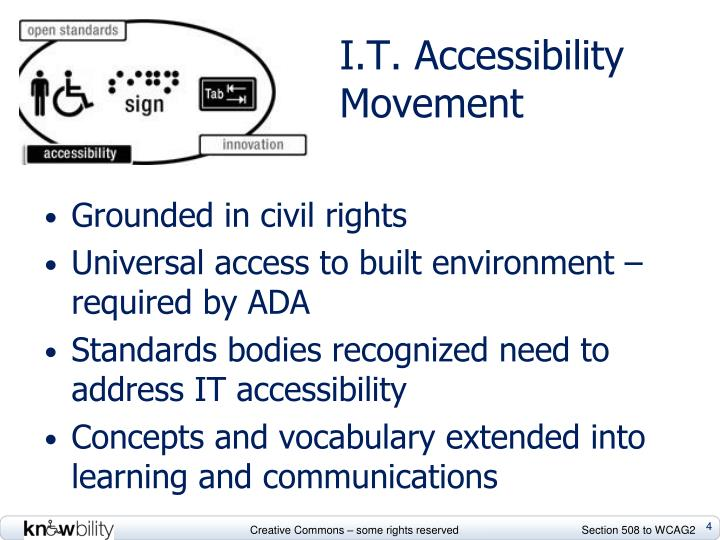 I.T. Accessibility Movement